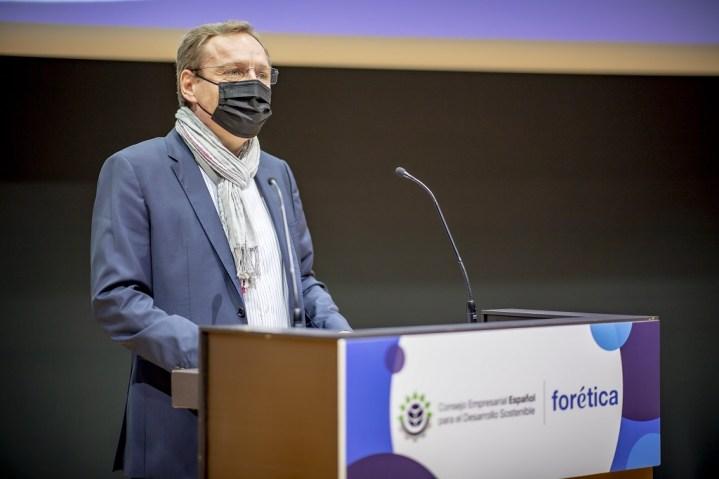 Guillaume Duverdier destacó en su discurso la apuesta integral de HEINEKEN España por la sostenibilidad y el compromiso de la compañía con la sociedad y el medioambiente