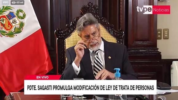 Presidente Sagasti promulga ley contra la trata de personas y el tráfico ilícito de migrantes