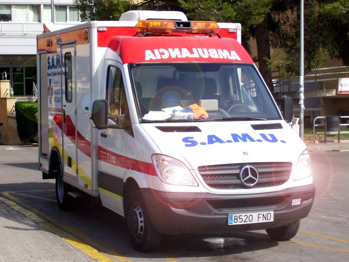 Una ciclista herida en una accidente de tráfico en Rojales