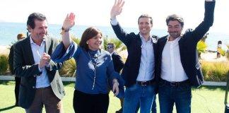 Casado en su acto de Alicante con Bonig, Barcala y Ciscar.