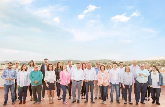 La foto de familia de la candidatura del PP de Sant Joan/ PP de Sant Joan