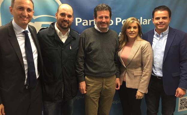 Dalmau junto a César Sánchez, Pepe Císcar y Eva Ortiz / Las Provincias