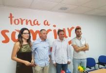 Baldovi en la rueda de prensa junto a Bellido, Fullana y Mas /Alex Ferrer