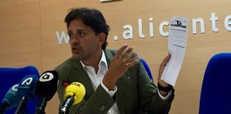 José Juan Zaplana compareciendo ante los medios en la sede del PP Alicante / PP Alicante