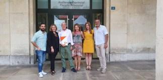 Mari Carmén Sánchez y Marta Martín capitaneando el registro de la candidatura de Cs Alicante para el 10-N /Cs Alicante