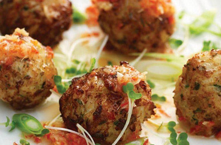 Bolas de patata con carne