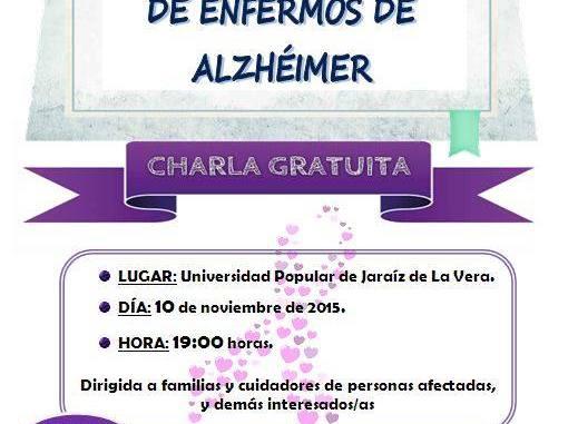 Charla gratuita para familias y cuidadores de enfermos de Alzheimer