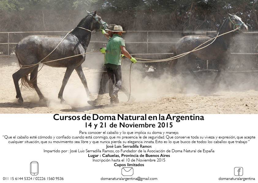 Curso de doma Natural en Argentina impartido por Jose Luis Serradilla Ramos