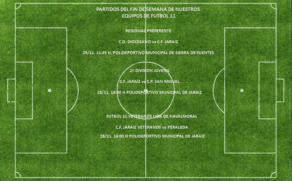 Horarios de los equipos del C.F. Jaraíz