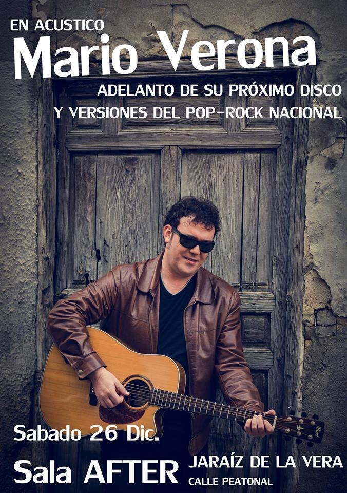 """Sala AFTER - """" MARIO VERONA """" En acústico y versiones del POP-RoCk nacional"""