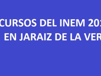 Cursos del INEM 2016 en Jaraíz de la Vera