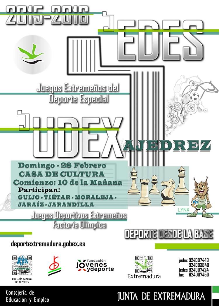 Jarandilla de la Vera acoge la segunda fase del Torneo Judex de Ajedrez