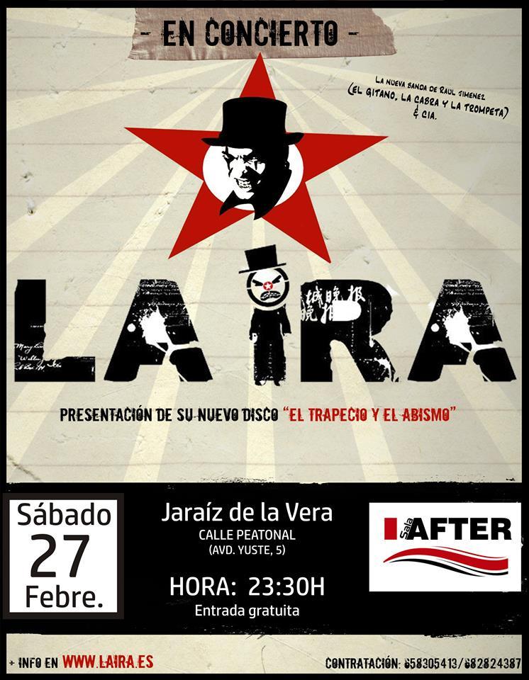 La Ira en Sala After de Jaraíz el 27 de febrero del 2016