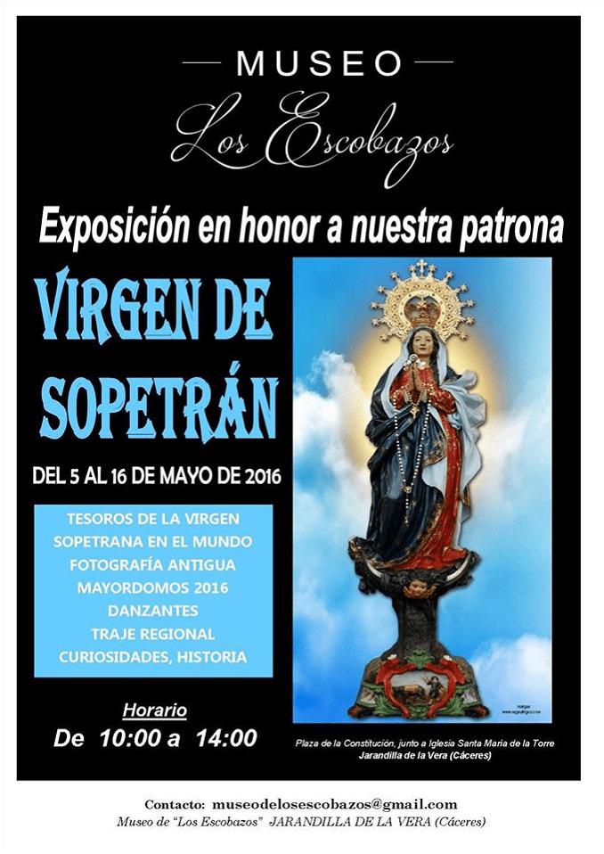 Exposición Nra Sra Virgen del Sopetran