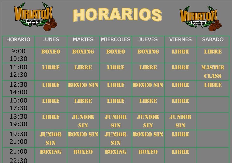 Horarios Viriatox