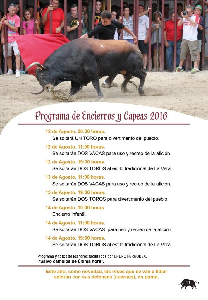 Guía de Toros 2016 Jaraíz de la Vera