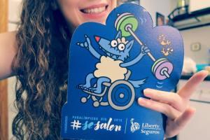 Loida Zabala en sus terceros juegos paraolímpicos
