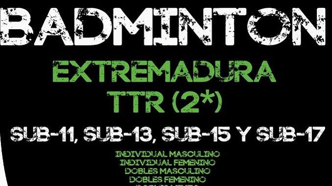 2º TTR Villanueva de la Vera de Bádminton el sábado 19 de noviembre