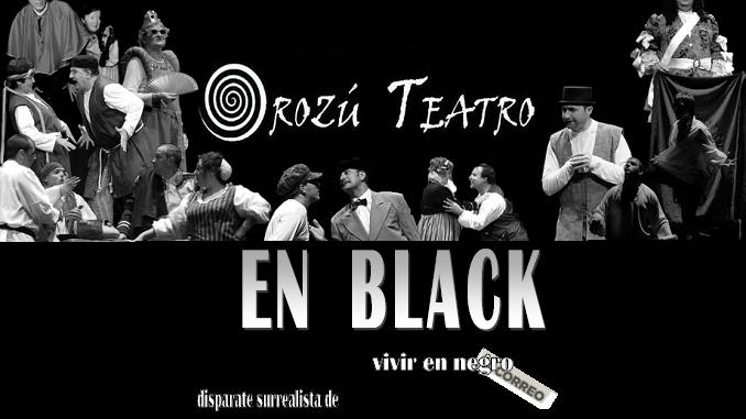 Orozú Teatro llega a Jaraíz con la obra 'EN BLACK – Vivir en negro'