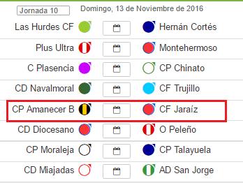 Próxima Jornada del C.F. Jaraíz