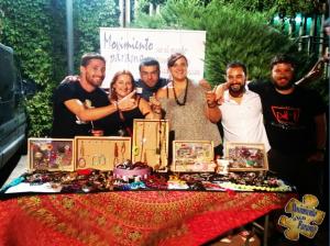 Mercadillo de abalorios en el Festival Folk de Plasencia