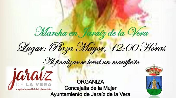 Marcha en el Día Internacional de la Mujer en Jaraíz de la Vera