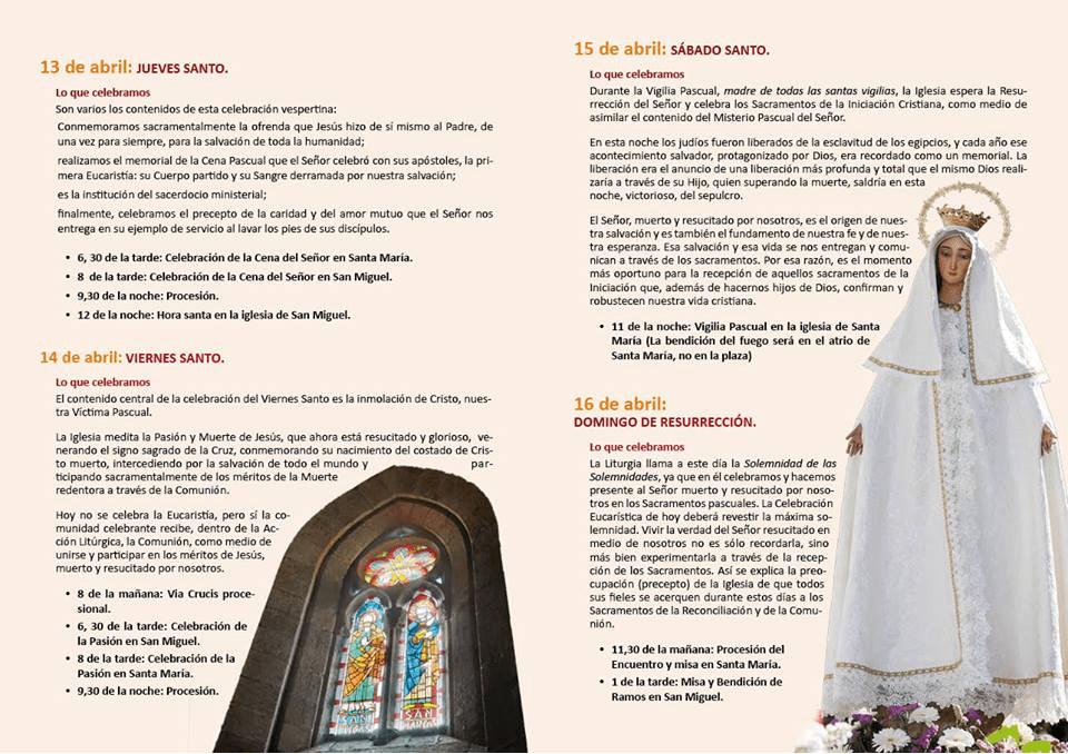 Programa de Semana Santa Jaraíz de la Vera 2017