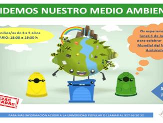 El lunes día 5 de junio Taller del Día del Medio Ambiente en la Universidad Popular