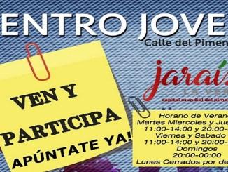 Nuevo horario de verano del Centro Joven de Jaraíz