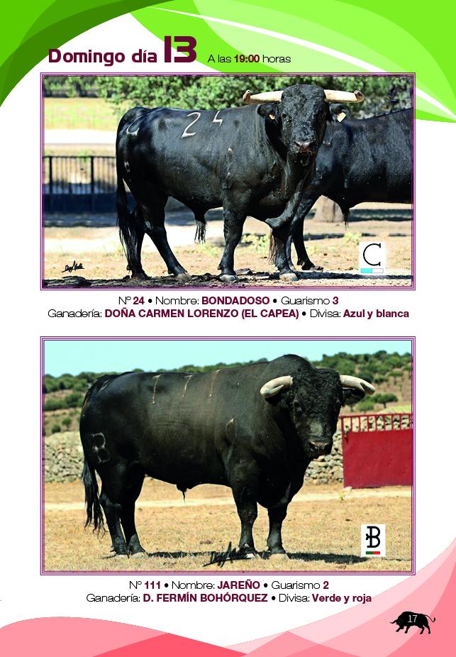 Guía de Toros 2017 - Domingo 13 de Agosto del 2017
