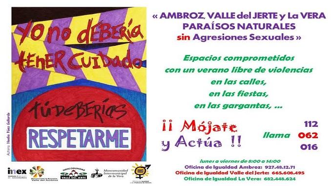 Ambroz, Valle del Jerte y La Vera paraísos naturales sin agresiones sexuales