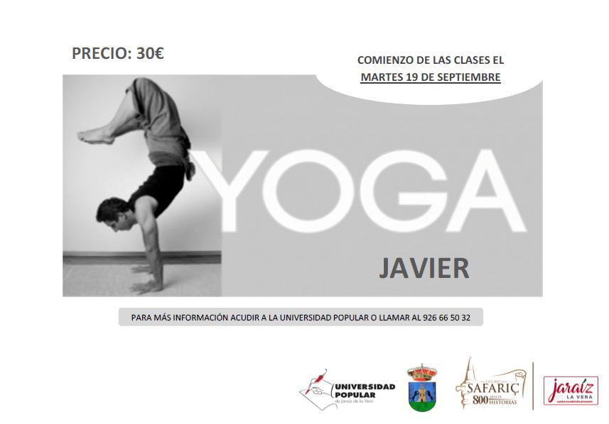 Curso de Español y de Yoga en la Universidad Popular de Jaraíz de la Vera