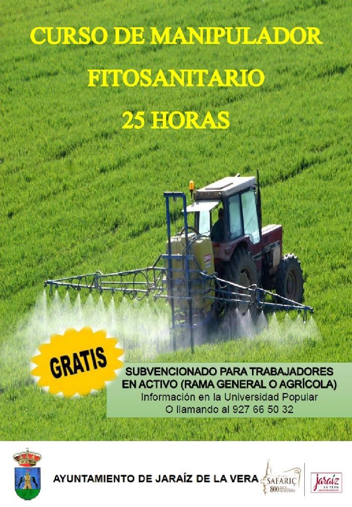 Curso de manipulador fitosanitario de 25 horas en la Universidad Popular 2017