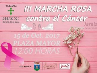 III Marcha Rosa contra el Cáncer Jaraíz de la Vera 2.017