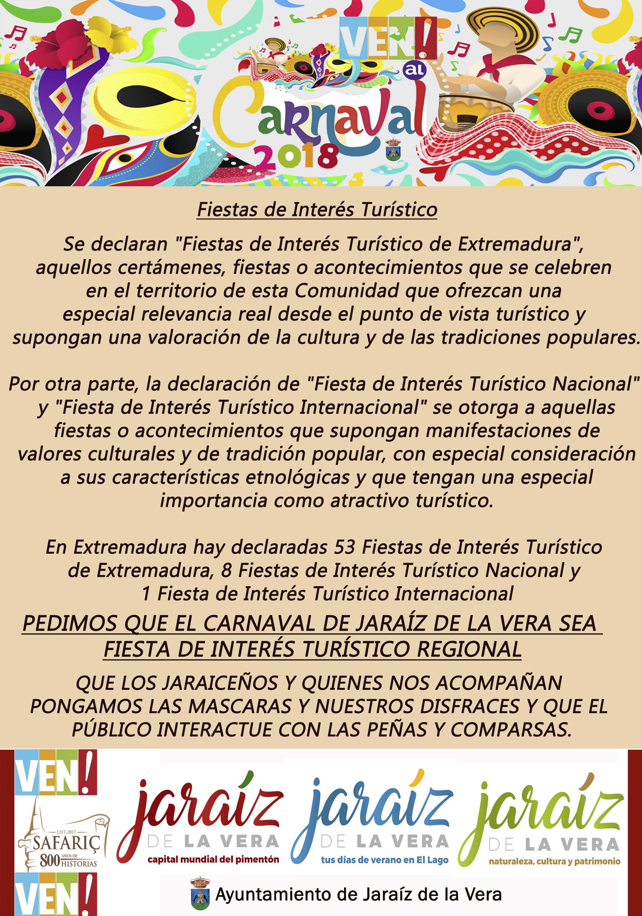 Fiesta de Interés Turístico - Carnaval de Jaraíz de la Vera