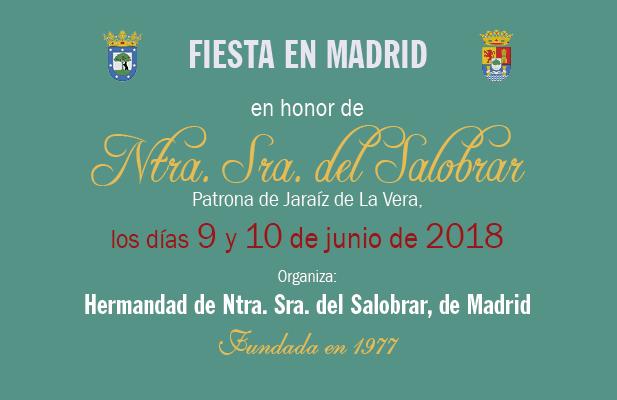 Fiesta en Madrid en honor de Ntra Sra del Salobrar – Patrona de Jaraíz de la Vera 2018