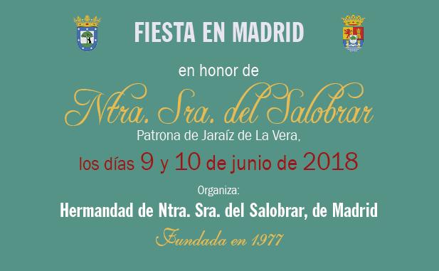 Fiesta en Madrid en honor de Ntra Sra del Salobrar - Patrona de Jaraíz de la Vera 2018