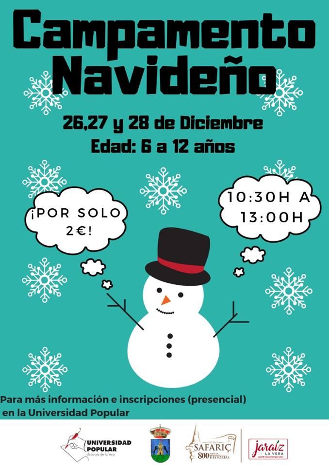 Hoy comienza el campamento navideño en Jaraíz de la Vera