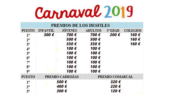 Premios Carnaval 2019 Jaraiz de la Vera