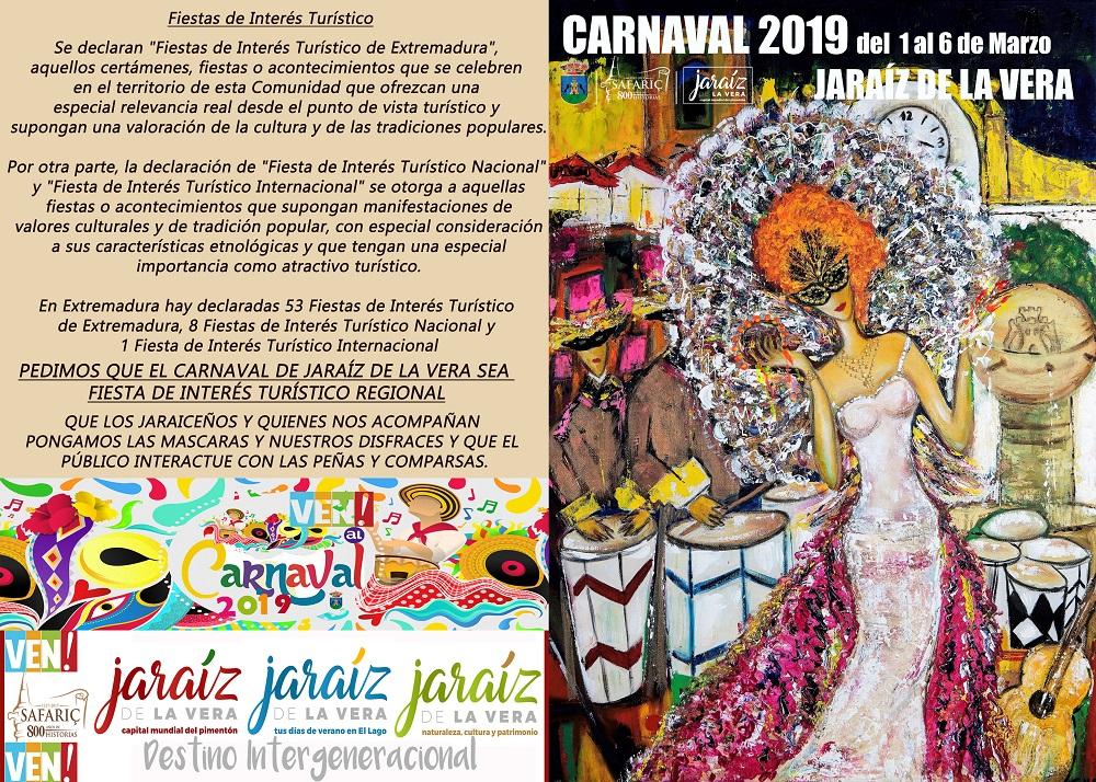 Programacion del carnaval de Jaraiz de la Vera 2019