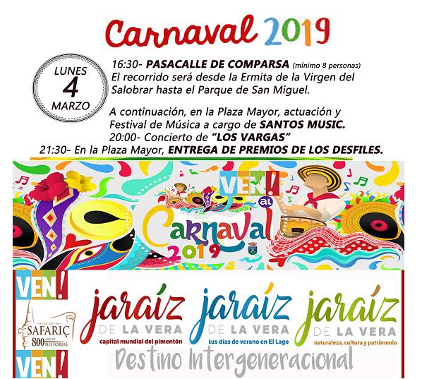 Lunes 4 de marzo 2019 - Carnaval de Jaraiz de la Vera