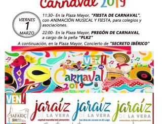 Viernes 1 de marzo 2019 - Carnaval de Jaraiz de la Vera