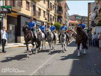 Desfile de carrozas, motos, caballos y coches hoy domingo en las Fiestas de San Cristóbal de Jaraíz de la Vera
