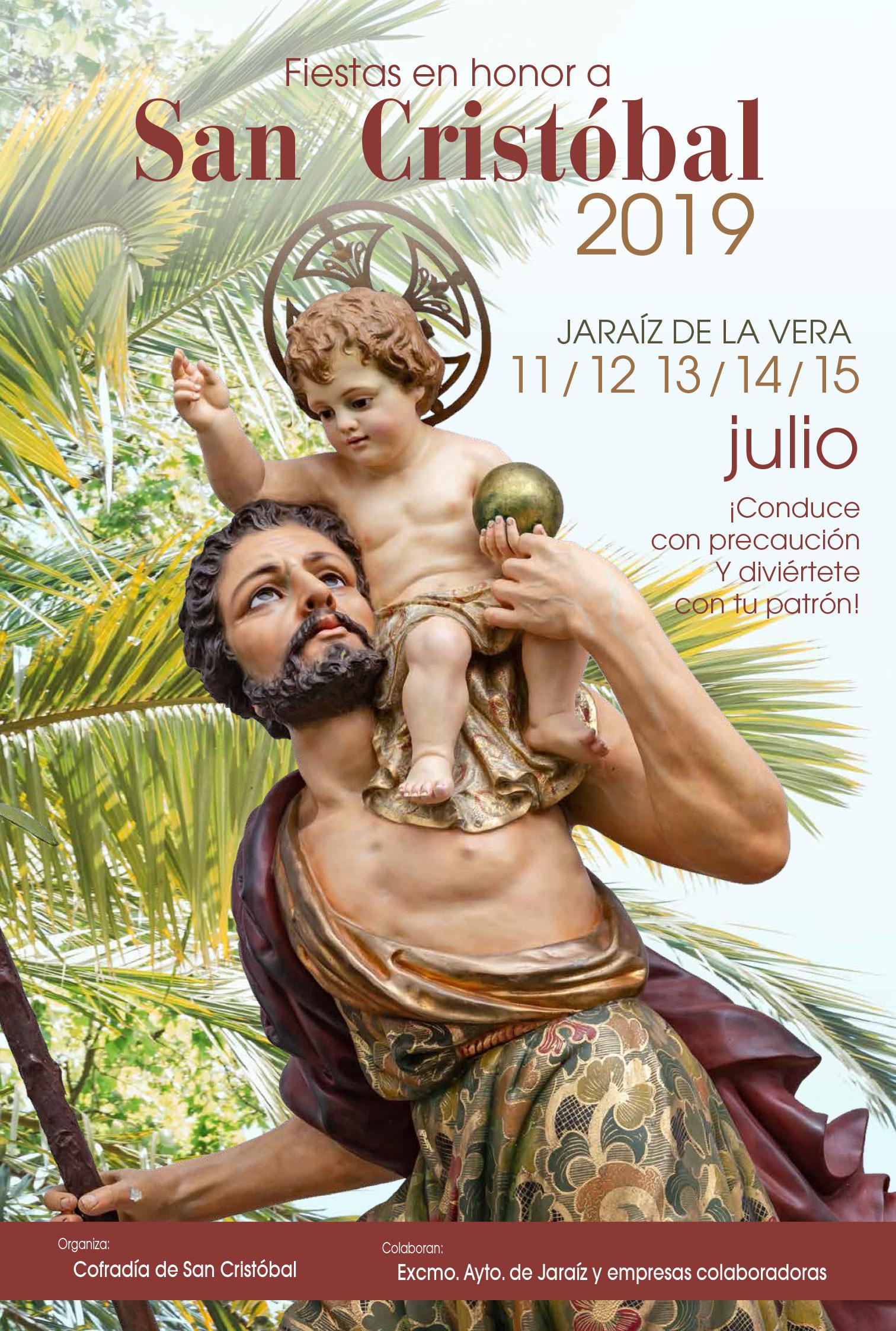 Programa completo de las Fiestas en honor a San Cristóbal 2019 en Jaraíz de la Vera