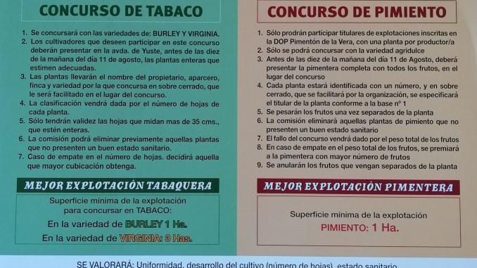 Concurso Tabaco y Pimiento