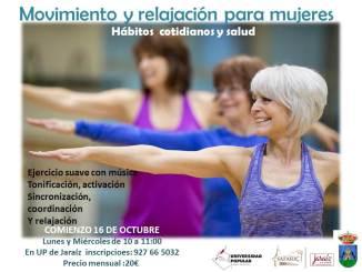 Comienza en la Universidad Popular de Jaraíz las clases de ejercicio y relajación para mujeres