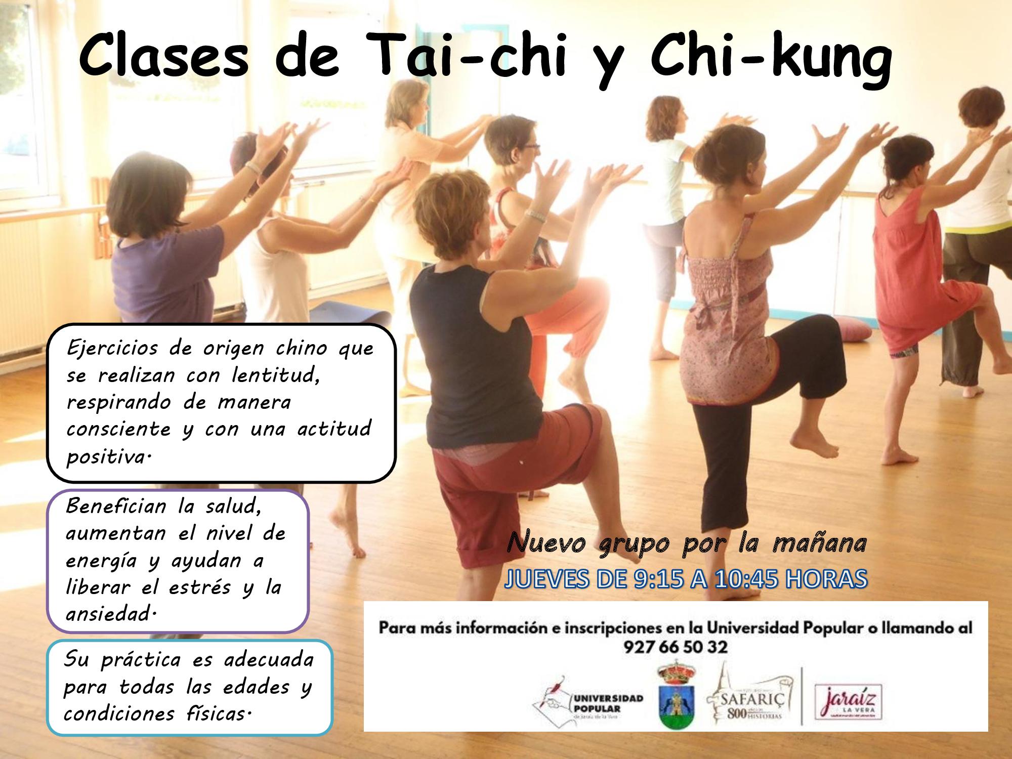 Nuevo grupo de Tai chi- Chi Kung por las mañanas en la Universidad Popular