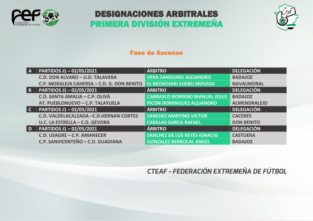 Primera Jornada - Fase de Ascenso a Tercera Division
