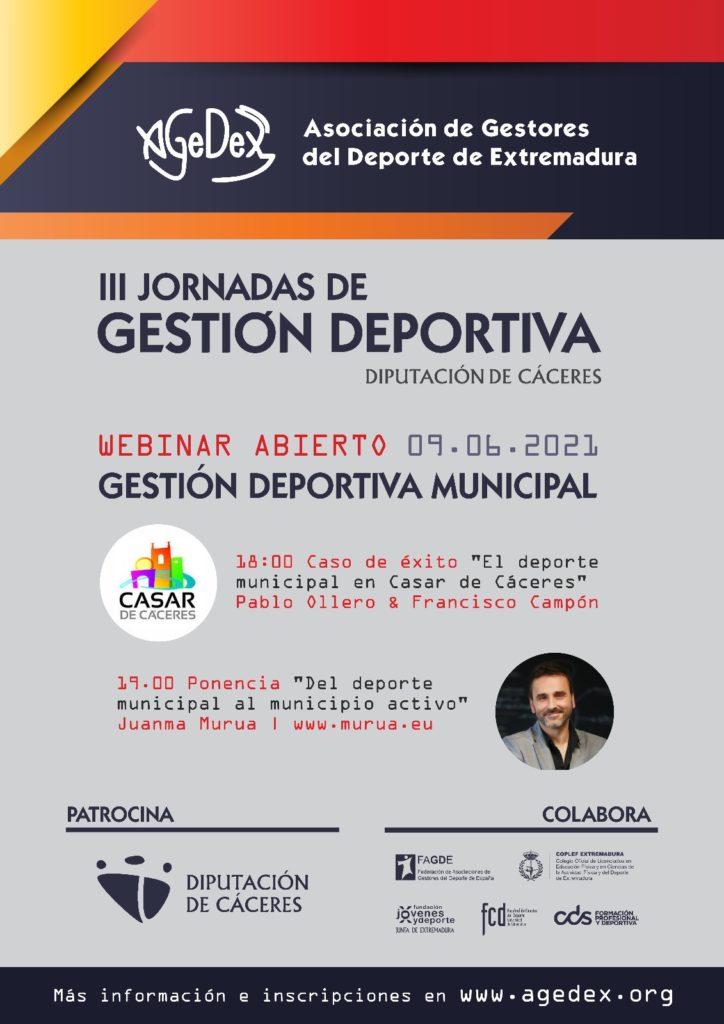 III Jornadas de Gestión Deportiva Diputacion de Caceres - Juanma Murua