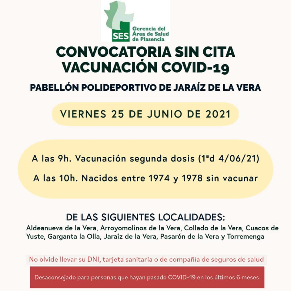 convocatoria-sin-cita-jaraiz-25-de-junio-2021